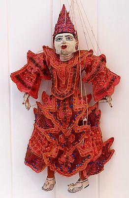 Vintage Asian Thai. / Burmese Puppet String Marionette. Hand made/Hand Painted.
