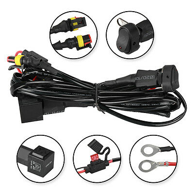 40A 12V Wiring Harness Switch On/Off For BMW R1200GS LED Auxliary Fog Lights