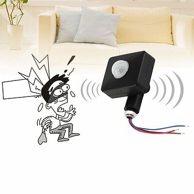 Black 12M PIR12V/PIR85-265V Security PIR Infrared Motion Sensor Detector DX