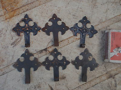 Four  old  pressed Tin  Picture Hooks  for the Wall