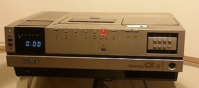 Sony SL-C5UB Betamax Video Recorder Beta - Partially Working - Great Condition