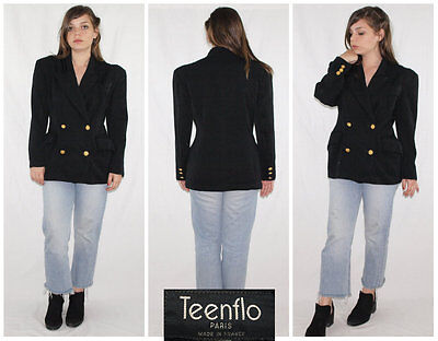 Vintage 80´s ULTRA SLINKY double breasted jacket MADE IN PARIS minimalist CHIC