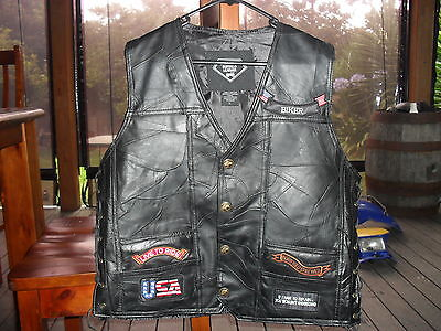 Motorcycle leather vest  NEW