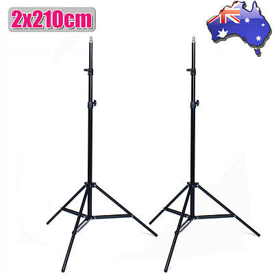 Photo Studio 2X210cm Tall Light Stand Tripod for Video Lighting Flash Umb Stand