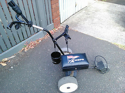 """Whispa Silent-Kaddy"" Electric golf buggy (Boska) NB no battery & 1 broken wheel"