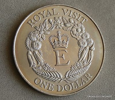 "1986 New Zealand Large Dollar Uncirculated ""royal Visit"" Loose #ob60"
