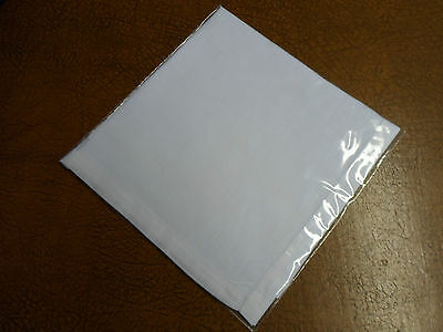 A Single White Linen Ralph Lauren Handkerchief