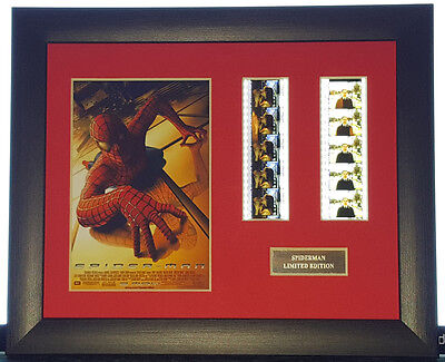 SPIDERMAN 35mm FRAMED AND MOUNTED FILM CELL PRESENTATION