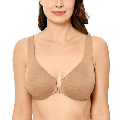Women's Full Coverage Underwire Non Padded Racerback Front Closure Bra
