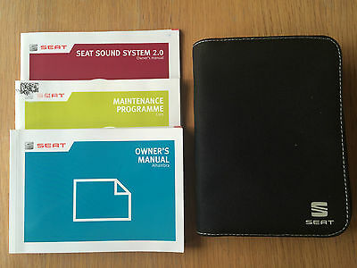 Seat Alhambra Owners Manual Handbook Pack With Wallet +Service 2012-2014 Ref3017