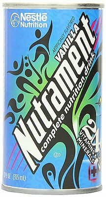 Nutrament Energy and Fitness Drink, Vanilla, 12 Ounce Cans Pack of 12