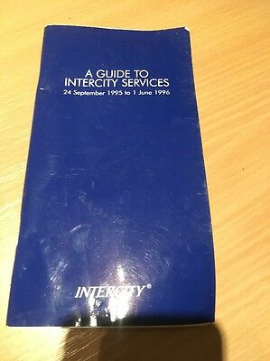 INTERCITY EAST COAST GUIDE TO SERVICES/ TRAIN TIMETABLE DATED 24 September 1995