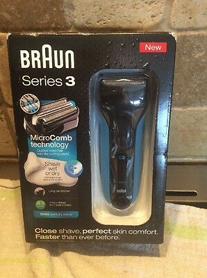 Braun Series 3 3040s Men's Electric Foil Shaver,Wet and Dry All In Price £49.99