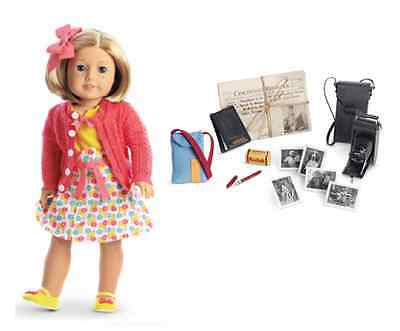 American Girl Doll Kit's Photographer Outfit w Reporter Accessories NEW!!