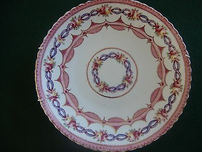 Pink, purple and white plate from the 1920s