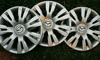 "Mazda 2 wheel covers hub caps 15"" silver"