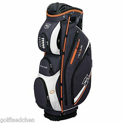 Wilson Staff NEXUS II  Golfbag / Cartbag 2016 - Schwarz/Orange - NEU - UVP 209€