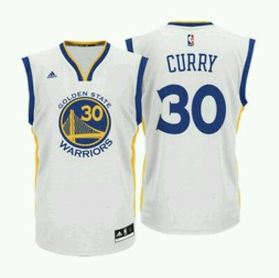 Maillot Golden State NBA Stephen Curry Neuf Blanc Taille M pour Hommes