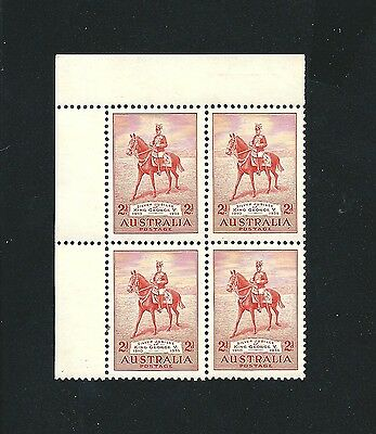 1935 Silver Jubilee 2d Red Block of 4 Mint MNH MUH