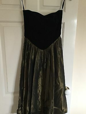 Black Party Dress Cocktail Dress Size 10 - 12 Vintage 80s 90s