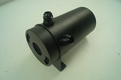 Oil Catch Tank with Internal Filter and Drain Back to Engine, AN-10 Fittings, 1L