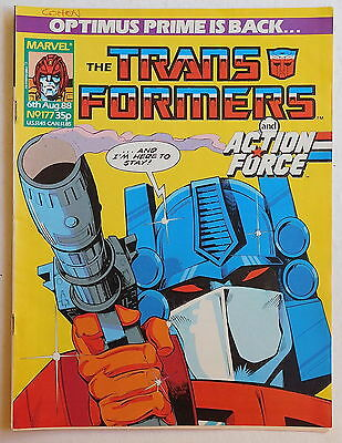 TRANSFORMERS COMIC #177 - 6th August 1988 - Marvel UK, Action Force