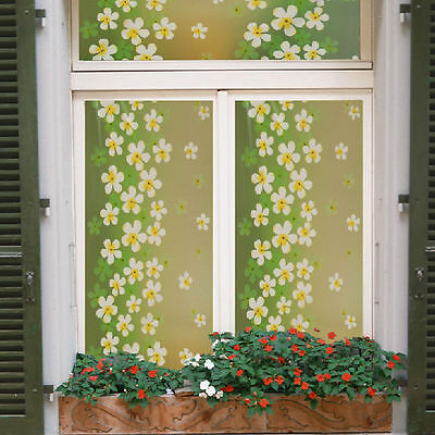 Green Lilac Frosted Window Glass Film Privacy Self Adhesive Sticker Home Decor