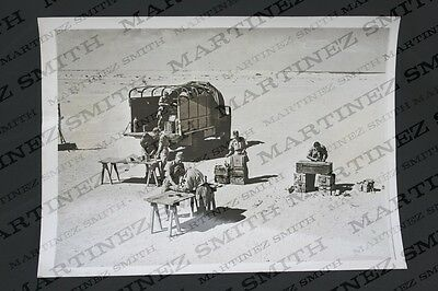 WWII Official Press Photo: Mobile Ammunition Laboratory in the Western Desert