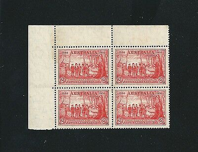 1937 150th Anniversary of NSW 2d Red Block of 4 Mint MNH MUH