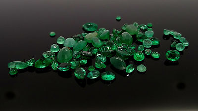 10.62ct mixed lot of natural emeralds from scrap gold jewellery loose gemstones