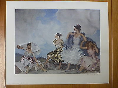 William Russell Flint - The Shower - Signed Limited Edition Print 1961