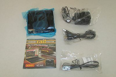 HORNBY DCC E-LINK DIGITAL CONTROLLER with RAILMASTER, TRANSFORMER AND WIRES