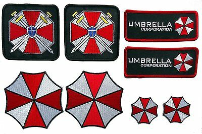 Resident Evil Umbrella Corporation Costume [Set of 8] Patches Iron on /sew on