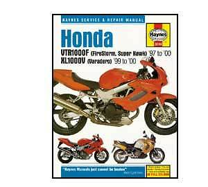 Honda VTR1000F Firestorm 1997-2008 Haynes Workshop Service Manual