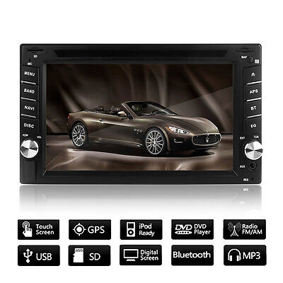GPS Car Stereo DVD Player Navigation System Double Din In Dash HD Ipod Autoradio