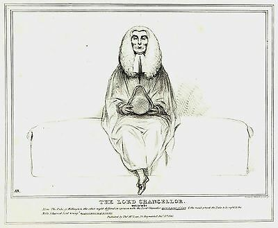 The Duke of Welllington - Lord Chancellor - Lithograph by John Doyle  (HB) 1833