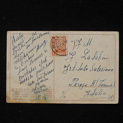 ZS-AA006 LITHUANIA - Postcard, 1930 To Turin Italy