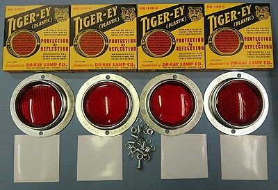 Willys Mb Slat Grill Tiger-Ey Plastic Reflector Set Of 4 Including Fixings &mask