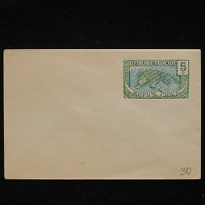 ZS-AA036 FRANCE - Congo Brazzaville, 5 C Green, Mint Cover