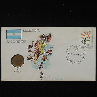 ZS-AA050 ARGENTINA - Numisbrief, 1987 Fdc, Animals, Geography Cover