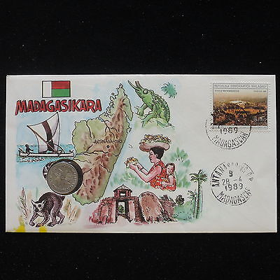 ZS-AA064 MADAGASCAR IND - Numisbrief, 1989 Fdc, Folklore, Costumes Cover