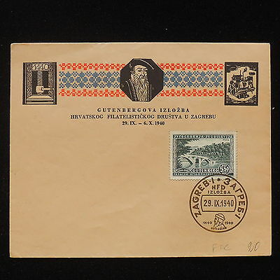 ZS-AA444 CROATIA - Fdc, 1940 From Zagreb Cover