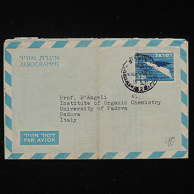 ZS-AA492 ISRAEL - Airmail, 1961 From Jerusalem To Padua, Airletter Cover