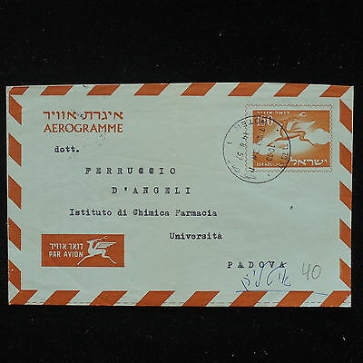 ZS-AA532 ISRAEL - Airmail, 1957 To Padua, Airletter Cover