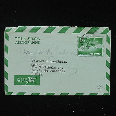 ZS-AA549 ISRAEL - Airmail, To Salerno Italy, Airletter Cover