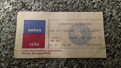 Liverpool v Arsenal fa cup semi final replay ticket (555)