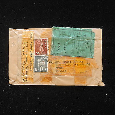 ZS-AA679 JAPAN - Cover, 1958 From Tokyo To Rome,With Douane Receipt