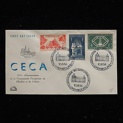 ZS-AA834 LUXEMBOURG - Fdc, 1956 4Th Anniversary Of C.E.C.A. Cover