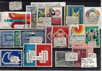 United Nations Mixed Selection Various Years  Ref 335