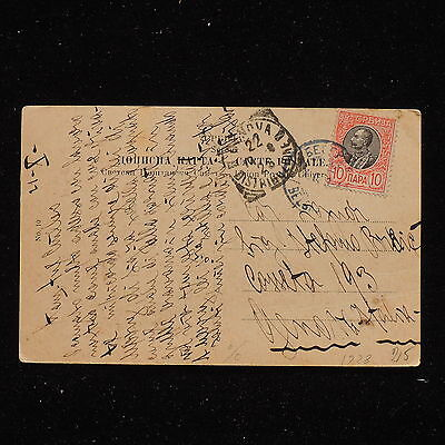 ZS-AB008 SERBIA - Postcard, 1928 From Belgrad To Genova Italy Cover